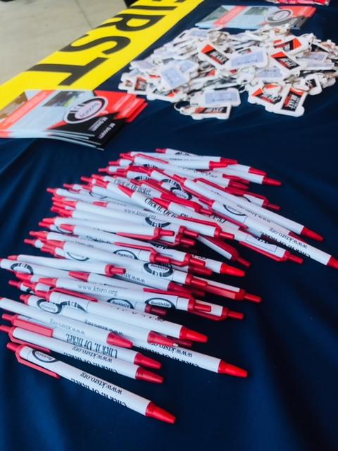 BuckleUp Schools pens and merch